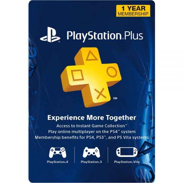 پلی استیشن پلاس یک ساله آمریکا PlayStation Plus USA 12 Months