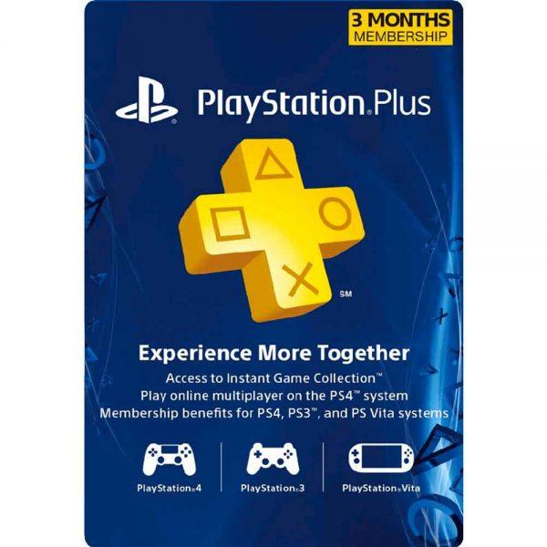 پلی استیشن پلاس سه ماهه آمریکا PlayStation Plus USA 3 Months