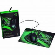 باندل موس و پدموس ریزر Razer Mouse Abyssus Lite & Mouse Pad Goliathus Mobile Construct Bundle