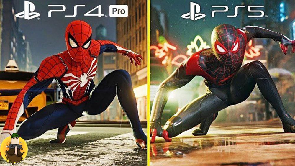 مقایسه گرافیک ps4 pro با ps5