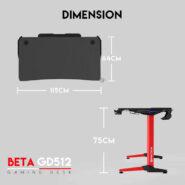 میز گیمینگ فن تک   Fantech Gaming Desk BETA GD512
