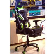 صندلی گیمینگ Pegasus با ماساژور | مدل Gaming Chair Pegasus PGC-1000 Black Green