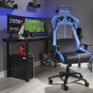 صندلی گیمینگ X Rocker آبی | NEW! Stinger X Rocker eSports Ergonomic Gaming Chair – Blue