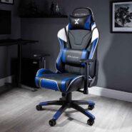صندلی گیمینگ X Rocker آبی | NEW! X Rocker Agility Sport PC Gaming Chair – Blue