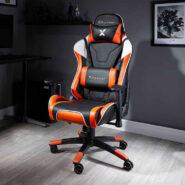 صندلی گیمینگ X Rocker نارنجی | NEW! X Rocker Agility Sport PC Gaming Chair – Orange