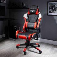 صندلی گیمینگ X Rocker قرمز | NEW! X Rocker Agility Sport PC Gaming Chair – Red