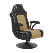 صندلی گیمینگ X Rocker طلایی NEW! Torque+ 2.1 Dual Gaming Chair – Gold